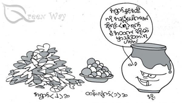 အချဉ်ဖောက်ထားသော အရွက်ရည် Fermented Plant Juice (FPJ)