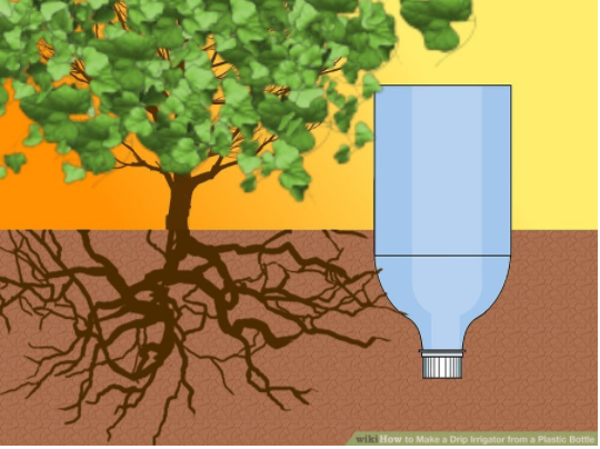 drip irrigation by using plastic bottle
