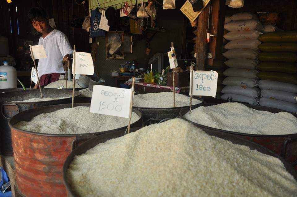 မန္တလေးဆန်ဈေးကွက် အရောင်းအဝယ် ကျဆင်းလာ