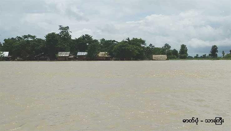 ကျောက်ကြီးတွင် ရေကြီး၍ လူ ၆၀၀၀ ကျော် ရေလွတ်ရာသို့ပြောင်းရွှေ့